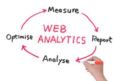 Web analytics diagram Royalty Free Stock Images