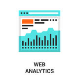 Web analytics icon Stock Photo