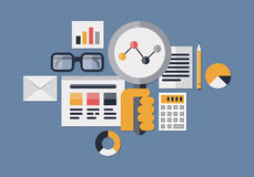 Web analytics illustration Stock Photos