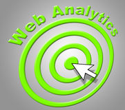 Web Analytics Indicates Analyzing Optimizing And Website Stock Photos
