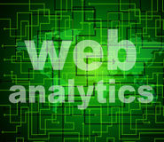Web Analytics Indicates Optimizing Information And Searching Stock Photos