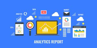 Web analytics and information, web data analysis, business and profit. Royalty Free Stock Images