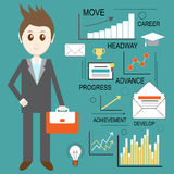 Web analytics, information and development, business statistic, conceptual. Vector Stock Image
