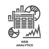 Web Analytics Line Icon Stock Photo