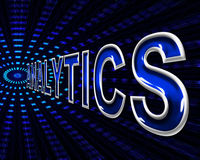 Web Analytics Means Website Analyzing And Internet. Analytics Web Showing Internet Information And Www Royalty Free Stock Photography
