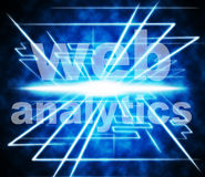 Web Analytics Means Www Optimize And Online. Web Analytics Representing Data Measuring And Optimize Stock Photos