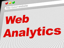 Web Analytics Represents Report Online And Collection. Web Analytics Showing Optimize Online And Data Royalty Free Stock Photography