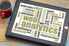 Web analytics word cloud Royalty Free Stock Images