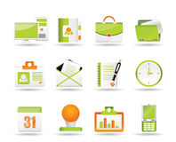 Web-Anwendungs-, Geschäfts- und Büroikonen Stockfotografie