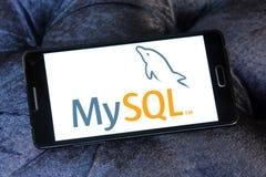 Web-Anwendungslogo MySQL-offener Quelle stockfotografie