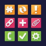 Web and App icons set great for any use, Vector EPS10. Royalty Free Stock Photography