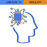 Web app idea 3D vector icon.  Stock Images