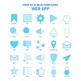 Web App Tone Icon Pack bleue - 25 ensembles d'icône illustration libre de droits