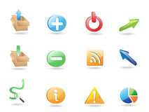 Web Application 3D Icon Set. For design Royalty Free Stock Photography