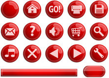 Web or application buttons Stock Photo
