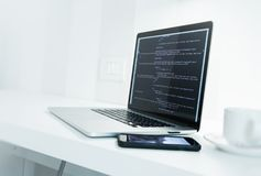 Web Application Developer Desk Royalty Free Stock Image