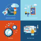 Web and application development Royalty Free Illustration
