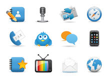 Web application icons Stock Image