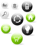 Web application icons Stock Images