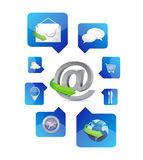 Web application icons illustration design Stock Images