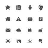 Web Application Icons Set Stock Photo