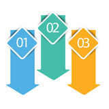 Web arrow banners in numbers Stock Images