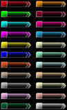 Web arrow buttons. Set of color web buttons with arrow Royalty Free Stock Image