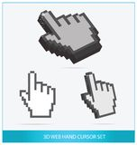 Web arrow hands symbols set isolated Stock Photography