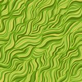 Web. Artistic wavy hand drawn vector seamless pattern for your design. Green and yellow variant Royalty Free Stock Image
