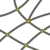 Web of ashalted roads vector Royalty Free Stock Photography