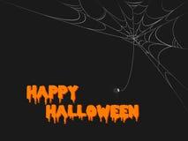 Web assustador de Halloween Foto de Stock
