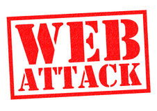 WEB ATTACK. Red Rubber Stamp over a white background Royalty Free Stock Image