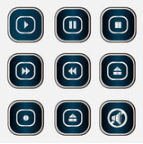 Web audio buttons Royalty Free Stock Images