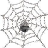 Web auf der Verriegelung Stockfoto