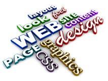 Web-Auslegung Lizenzfreie Stockfotos