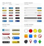 Web-Auslegung-Tasten-Element stock abbildung