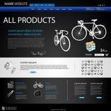 Web-Auslegung-Web site stock abbildung