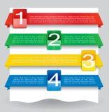 Web-Auslegungfahne für Web site mit Zahlen Lizenzfreie Stockfotos