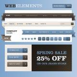 Web-Auslegungfeldvektor Lizenzfreies Stockfoto