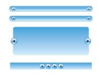 Web azul do formulário Fotografia de Stock Royalty Free