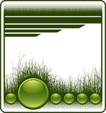 Web background with grass. And glossy buttons. Additional vector format in EPS (v.8 Stock Image