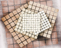 Web backgrounds and textures. The basis for the website, with details of squares or mosaic Stock Photography