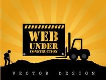 Web bajo construcción stock de ilustración