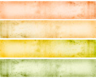 Web banner. Grungy colored banners ready for your text stock illustration