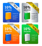 Web banner. Set of 4 web banners Stock Photo