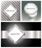 Web banner. Glossy metallic style web banners Stock Photography