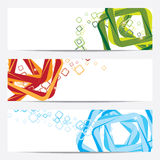 Web Banner. Designs colorful banners for your websites Stock Photography