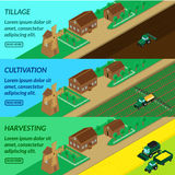 Web banner agriculture, Stock Photo