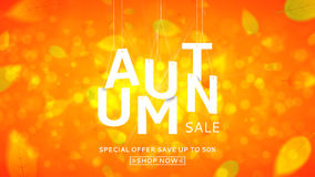 Web banner for autumn sale Stock Image