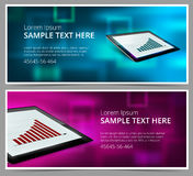 Web banner block. Header layout template. Creative abstract  Royalty Free Stock Images